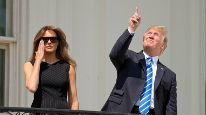 Donald Trump Just Retweeted A Terrible Eclipse Meme