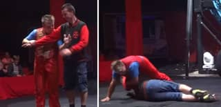 WATCH: Dad Knocked Unconscious After Circus Trick Goes Horribly Wrong