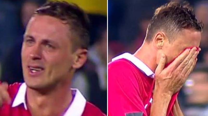 Nemanja Matic Breaks Down In Tears After Serbia Secure World Cup Spot