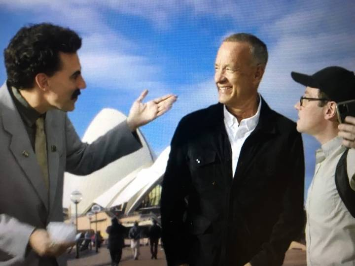 Borat Seen Coughing On Tom Hanks In Controversial Scene From Subsequent Moviefilm