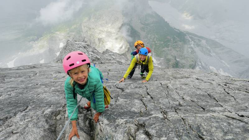 Parents Take Their Fearless Son, Three, And Daughter, Seven, Climbing Up 10,000ft Mountain