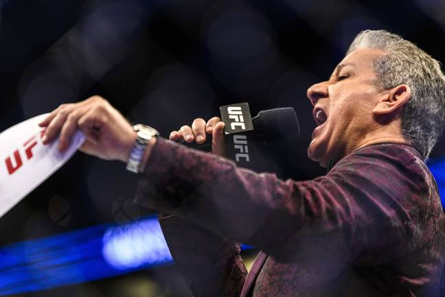 Bruce Buffer calls all the action on the UFC's biggest cards
