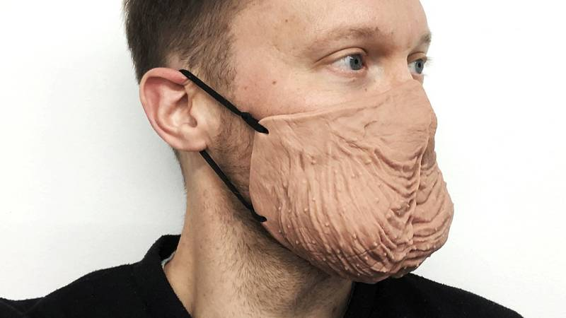 You Can Now Buy A Face Mask Shaped Like A Pair Of Testicles