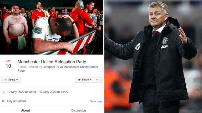 51,000 People Are Interested Or Going To Manchester United's 'Relegation Party'