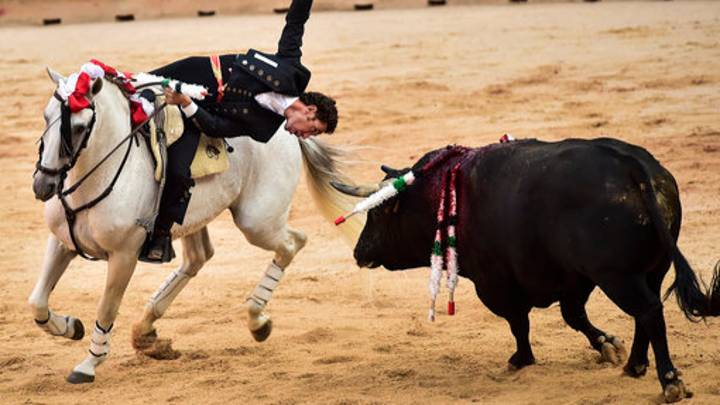 Runners Pummelled As Bulls Charge Streets In Spanish Festival
