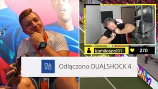 Twitch Streamer Snaps Controller In Half After Conceding Disrespectful Goal On FIFA 21