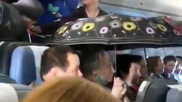 Passengers On Russian Flight Put Up Umbrellas After It Starts 'Raining'