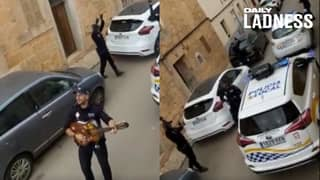 Spanish Police Play Songs In The Streets To Entertain People During Lockdown