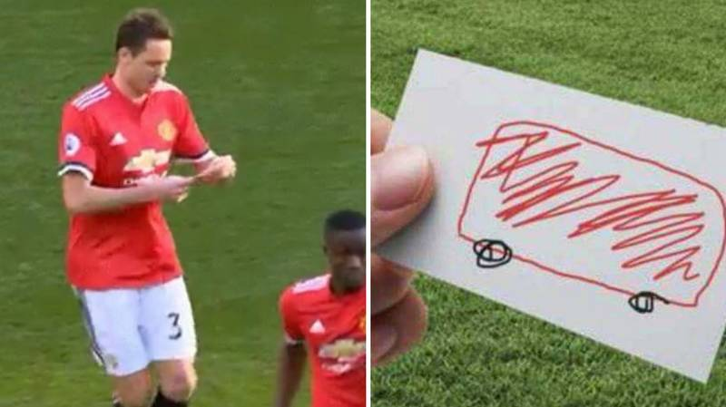 People Think They Know What Was Written On Nemanja Matic's Note
