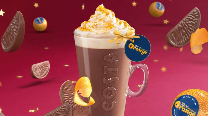 Costa Coffee Is Selling Terry's Chocolate Orange Hot Chocolate This Christmas