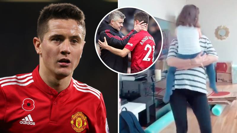 United Fans Worry After Herrera's Girlfriend Drops Hint That He Will Leave The Club