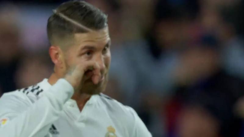 People Are Convinced Sergio Ramos Was Wiping Away Tears In The 83rd Minute