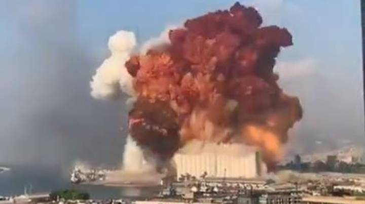 Huge Explosion In Port Of Lebanese Capital