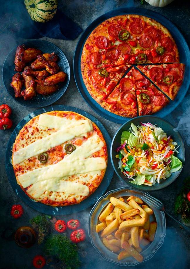 Devilishly Hot Pepperoni Pizza, £4.50, and Melting Mummy Pizza, £4. Credit: M&S