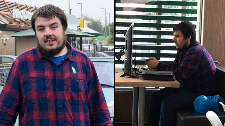 LAD Brings His PS4 And Widescreen TV Into McDonald's
