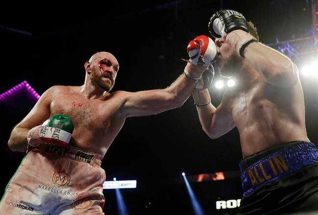 Fury won the fight following a unanimous decision of 116-112, 117-111 and 118-110 on the judges' scorecards. Credit: PA