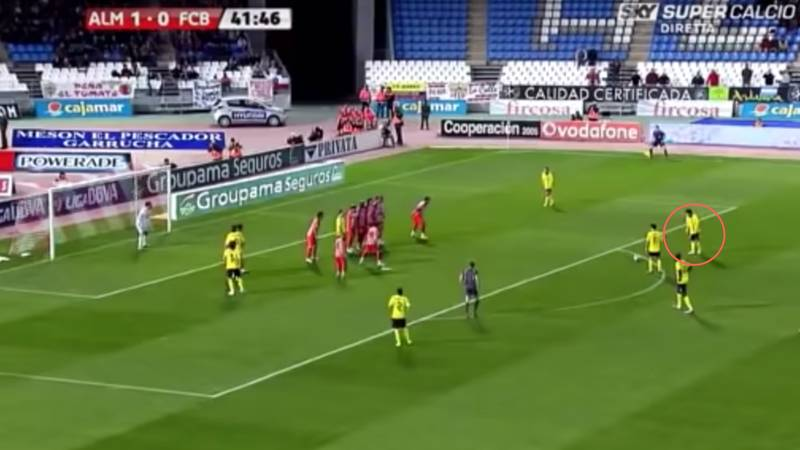 Fan Claims That Lionel Messi Scored A Panenka Free-Kick Against Almería Back In 2010