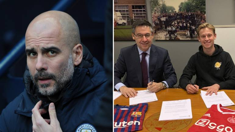 Barcelona Manager Ernesto Valverde Takes Swipe At Pep Guardiola Over Frenkie de Jong Transfer