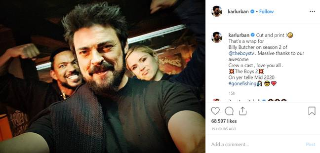 Credit: Instagram/Karl Urban