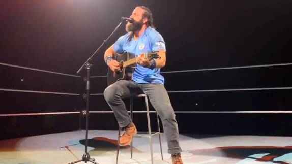 WWE Wrestler Trolls Liverpool Fans By Wearing Manchester City Shirt During Show