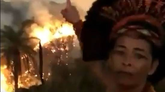 Heart-Breaking Video Shows Pataxó Woman Crying As Amazon Rainforest Burns