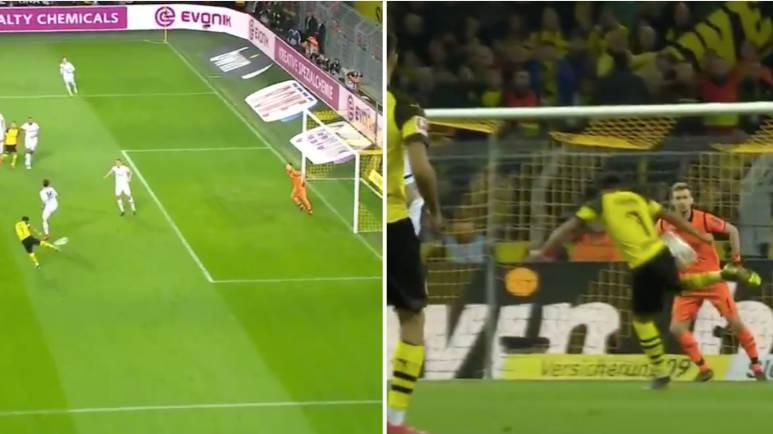 We Can't Stop Watching Jadon Sancho's Technique To Score Worldie Volley
