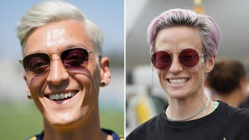Aubameyang Thinks Mesut Ozil Looks Like Megan Rapinoe And He's Spot On