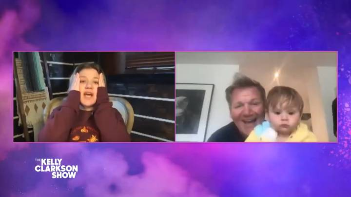 Gordon Ramsay's 1-Year-Old Son Looks Furious As He Crashes Interview
