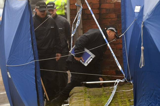 Police are searching a Staffordshire address that is said to be linked to yesterday's attack. Credit: PA