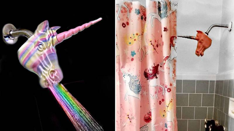 These Unicorn Shower Heads Will Add A Little Magic To Your Bathroom