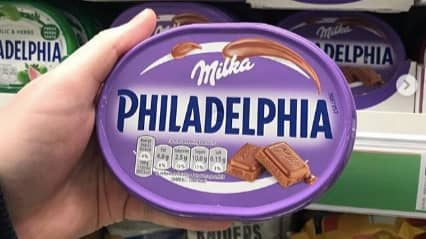 You Can Now Buy Philadelphia Cheese Mixed With Milka Chocolate At Asda
