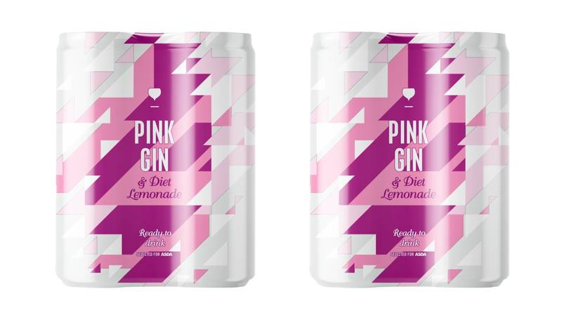 ASDA Is Selling Pink Gin And Diet Lemonade Cans For Those With A Sweeter Tooth