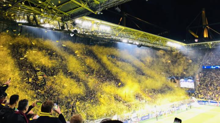 Borussia Dortmund's Yellow Wall Create Incredible Display Ahead Of Barcelona Game