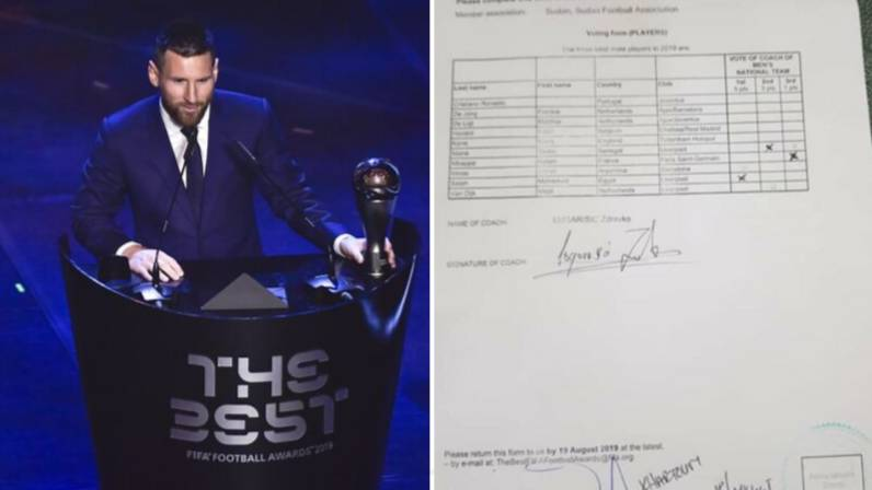 Cristiano Ronaldo Fan Photoshops Sudan Manager's FIFA Men's Best Player Voting Form