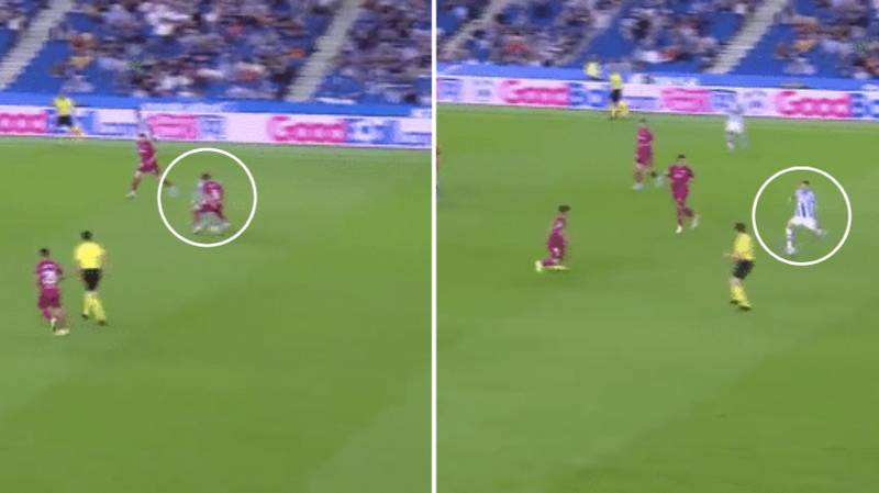 Martin Odegaard Nutmegs Player Then Pierces Sublime Through Ball In Unreal Assist