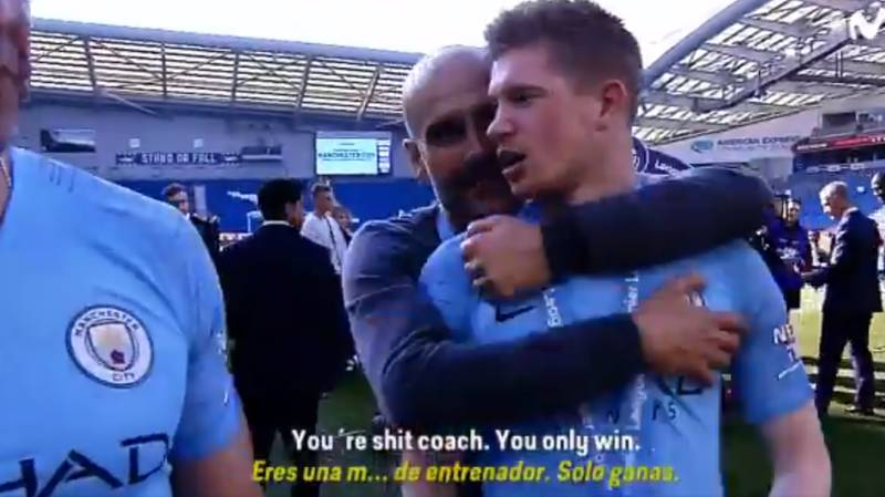 Kevin De Bruyne Told Pep Guardiola, 'You're A Sh*t Manager, You Only Win' In Title Celebrations